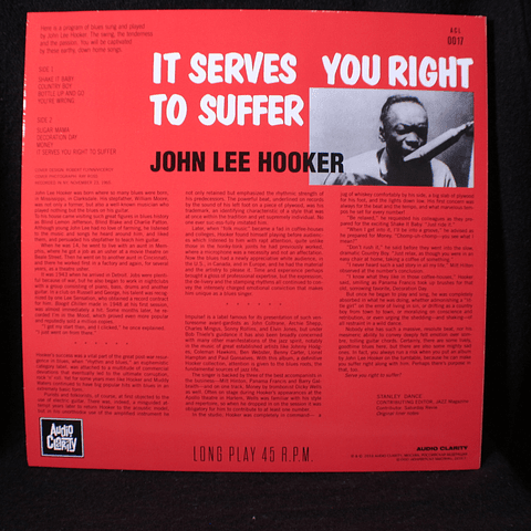 John Lee Hooker ‎– It Serves You Right To Suffer