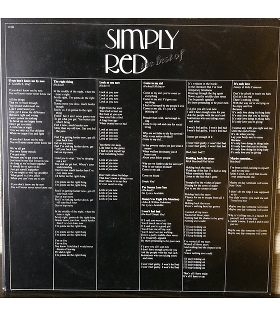 Simply Red ‎– The Best Of Simply Red