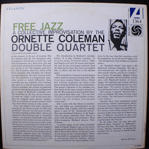 Ornette Coleman Double Quartet – Free Jazz (Ed Japón)