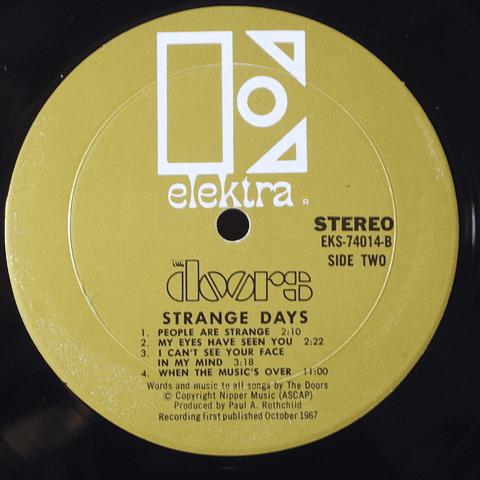 Doors – Strange Days (Ed USA '67 Gold label)