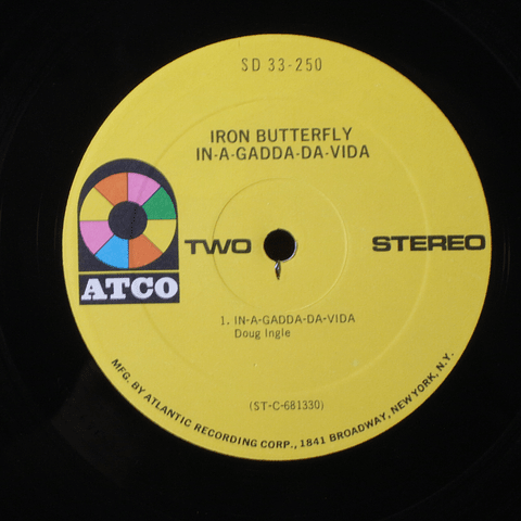 Iron Butterfly ‎– In-A-Gadda-Da-Vida (1a Ed USA)
