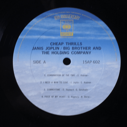 janis Joplin Big Brother & The Holding Company ‎– Cheap Thrills