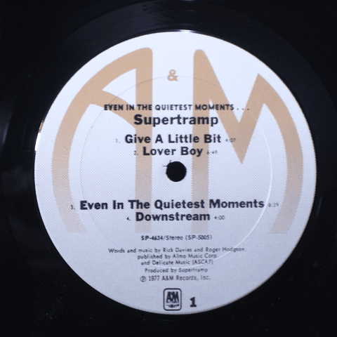 Supertramp – Even In The Quietest Moments... (1a Ed USA)