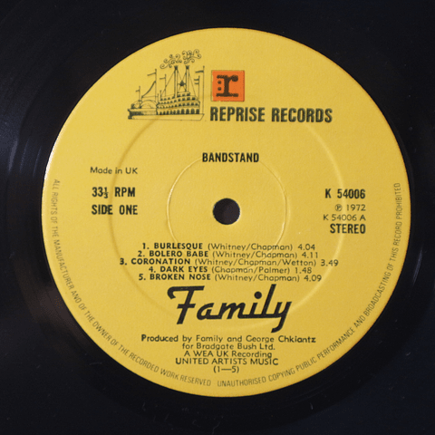 Family – Bandstand (Ed UK)