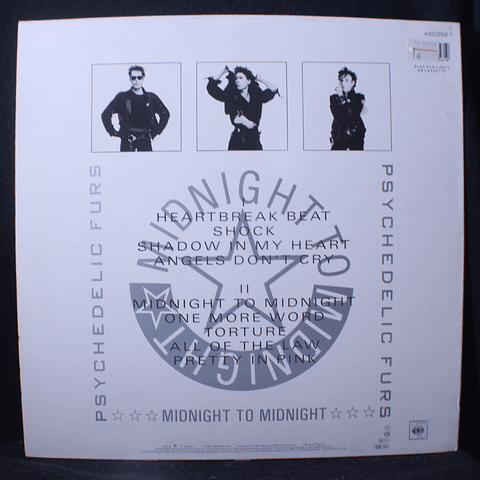 Psychedelic Furs – Midnight To Midnight (1a Ed UK)