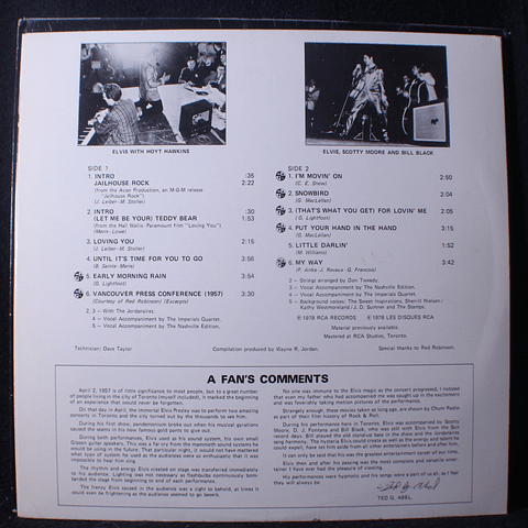 Elvis Presley – A Canadian Tribute