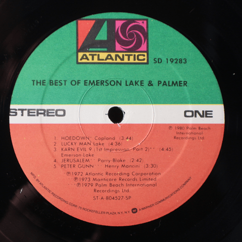 Emerson, Lake & Palmer – The Best Of  (1a Ed USA)