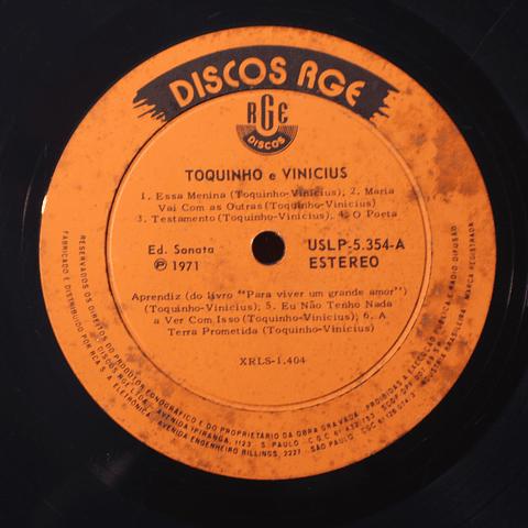 Vinicius e Toquinho - 1971