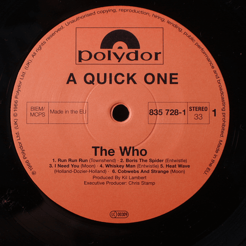 Who – A Quick One (Reed.)