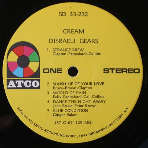Cream – Disraeli Gears (Ed USA '69)
