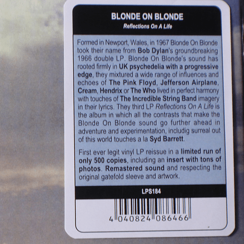 Blonde On Blonde – Reflections On A Life (reed)