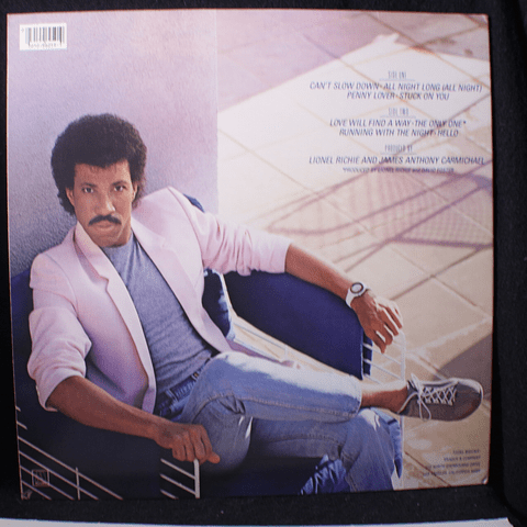 Lionel Richie ‎– Can't Slow Down (1a Ed USA)