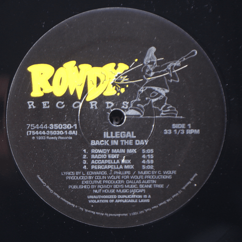 Illegal – Back In The Day 12p
