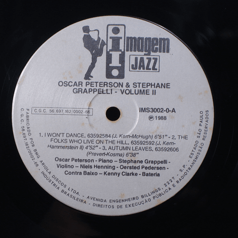Oscar Peterson & Stephane Grappelli Volume II
