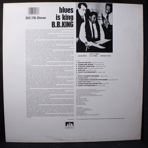 B.B. King – Blues Is King... (plus) Live in Chicago (Ed UK)