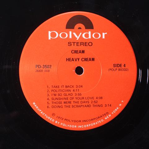 Cream (Clapton) – Heavy Cream (Ed USA)