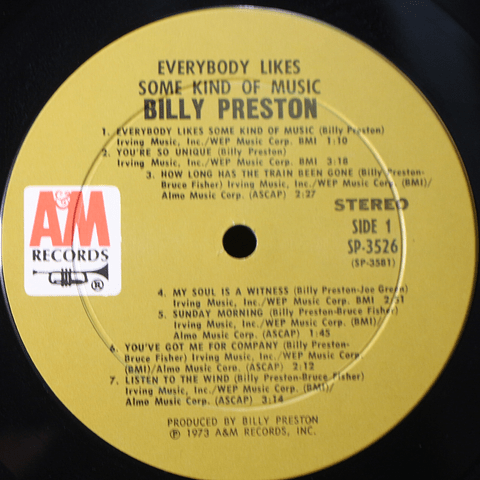 Billy Preston ‎– Everybody Likes Some Kind Of Music