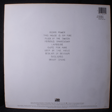 AC/DC – Flick Of The Switch (Ed Europa)