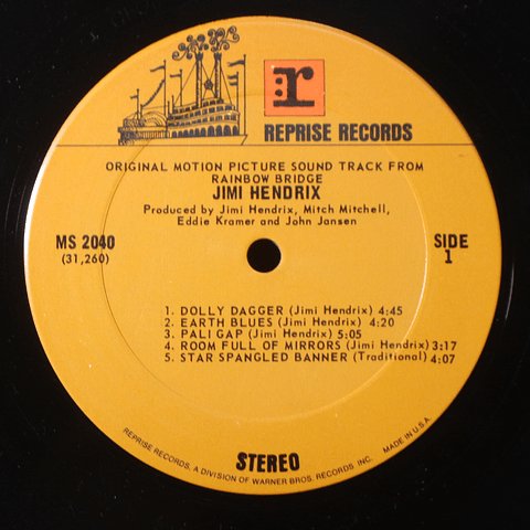 OFERTA Jimi Hendrix – Rainbow Bridge (1A ED USA)  de 23.500 por 19000