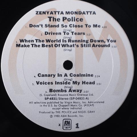 Police – Zenyatta Mondatta (1a Ed USA)