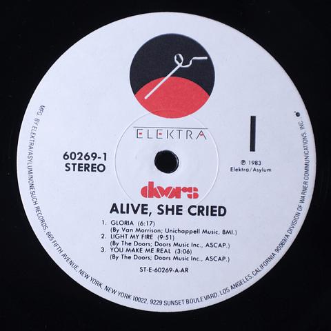 Doors – Alive, She Cried (1a Ed USA)