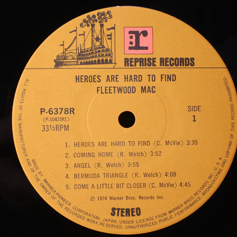 Fleetwood Mac – Heroes Are Hard To Find