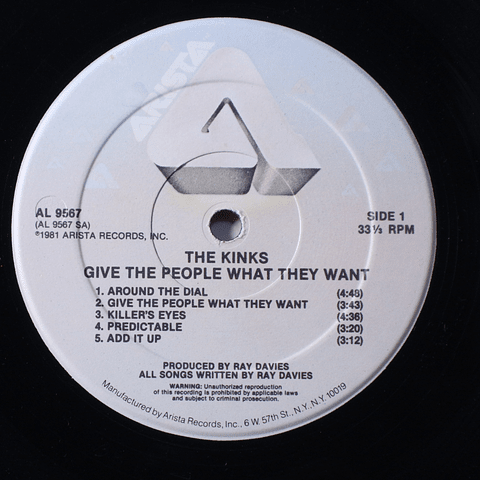 Kinks, The – Give The People What They Want