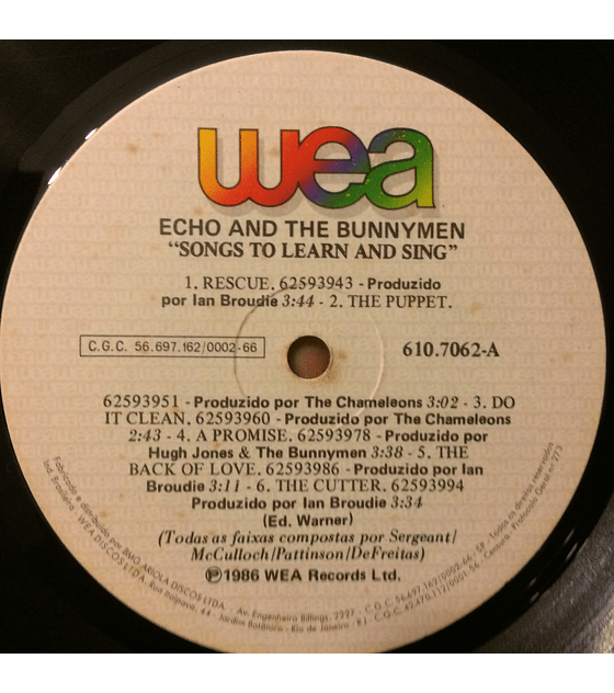 Echo & The Bunnymen – Songs To Learn & Sing