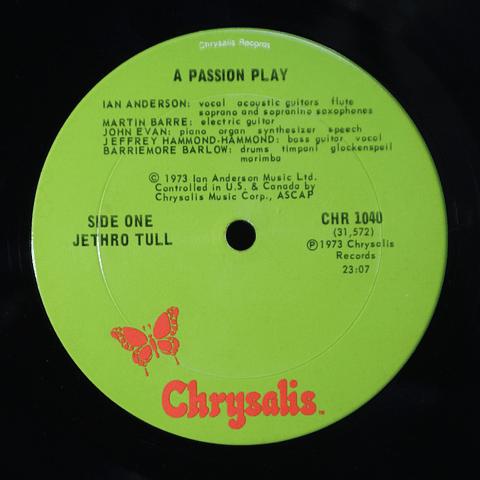 Jethro Tull – A Passion Play (1a Ed USA)
