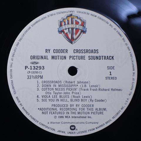 Ry Cooder – Crossroads - Original Motion Picture Soundtrack
