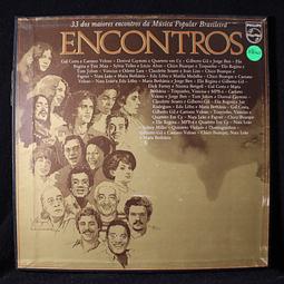 Various – Encontros (BOX 3LPs) 33 Dos Maiores Encontros Da Música Popular Brasileira (Caetano, Chico Buarque, Jorge Ben, Gal Costa Bethania, Vinicius, Elis Regina, Tom Jobim, etc...) etc...)