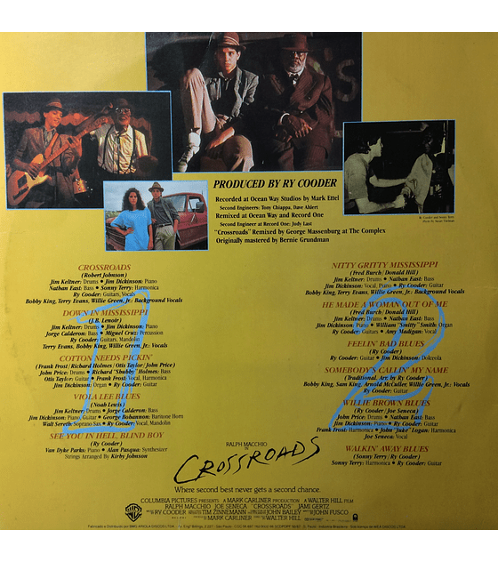Ry Cooder ‎– Crossroads Original Soundtrack