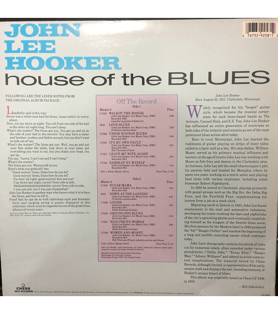John Lee Hooker ‎– House Of The Blues