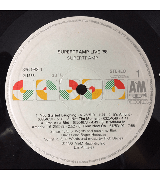 Supertramp ‎– Live '88