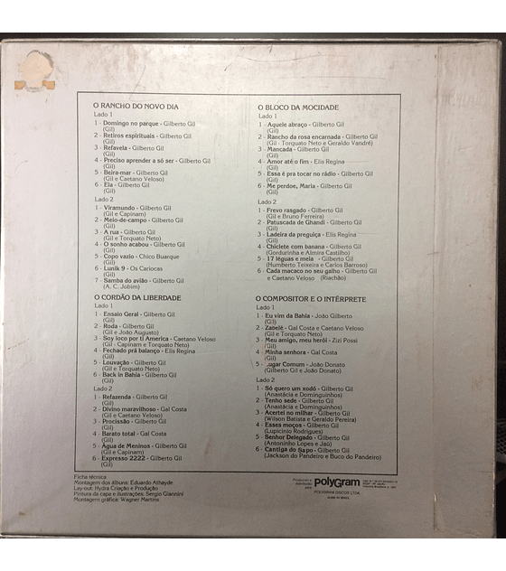 Gilberto Gil - O Cordão Da Liberdade (BOX 4LPs + libreto)