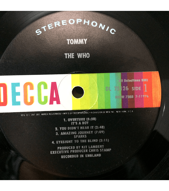 Who, The ‎– Tommy (1a Ed. USA)