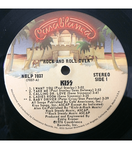 Kiss ‎– Rock And Roll Over (1a Ed USA)