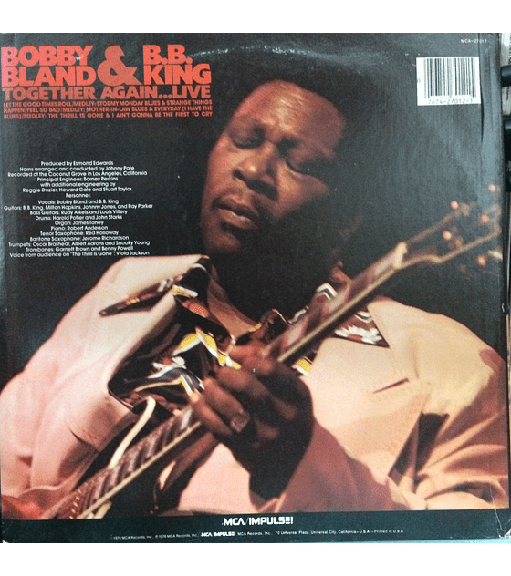 B.B. King ‎& Bobby Bland – Together Again...Live