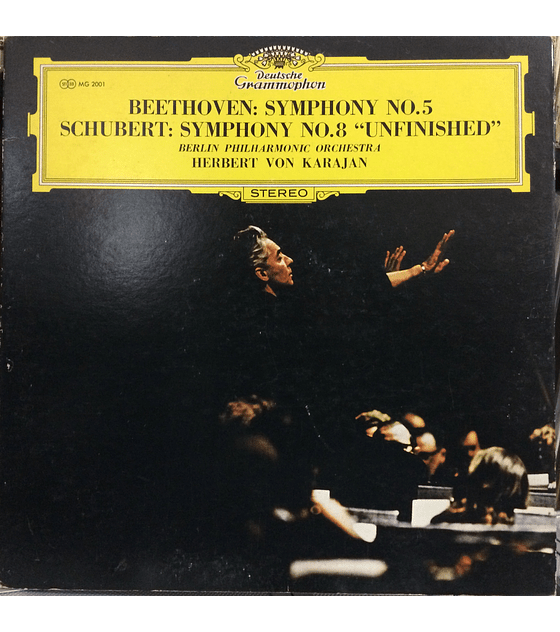 Schubert*, Beethoven*, Berlin Philharmonic Orchestra*, Herbert von Karajan ‎– Schubert: Symphony No. 8 I, Beethoven: Symphony No. 5 In F Major