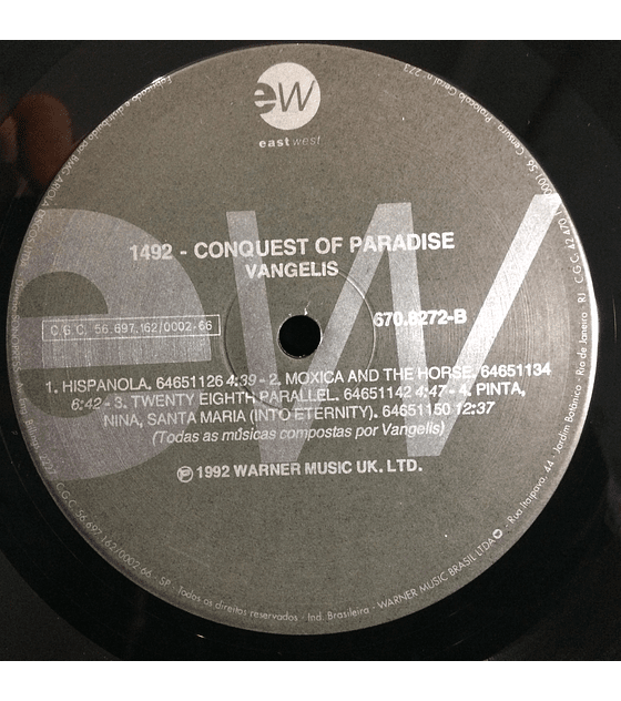 Vangelis – 1492 – Conquest Of Paradise (Music From The Original Soundtrack)