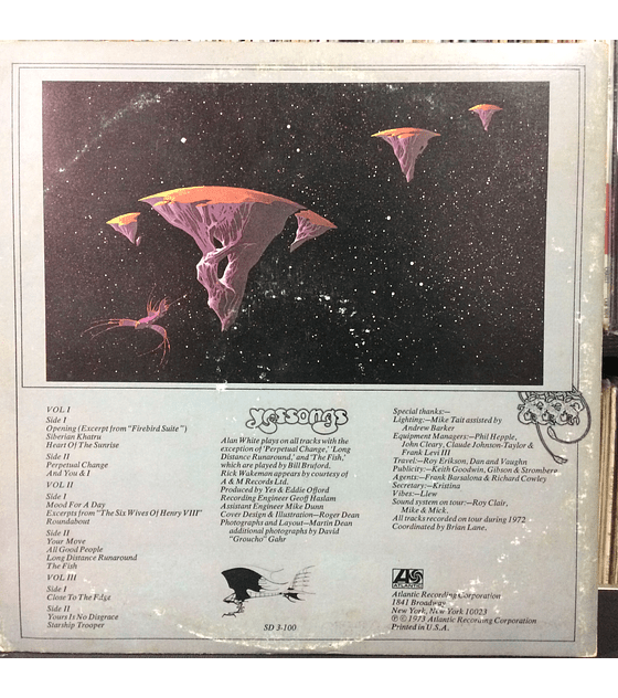 Yes ‎– Yessongs (1a ED USA 4x Gatef + libreto)