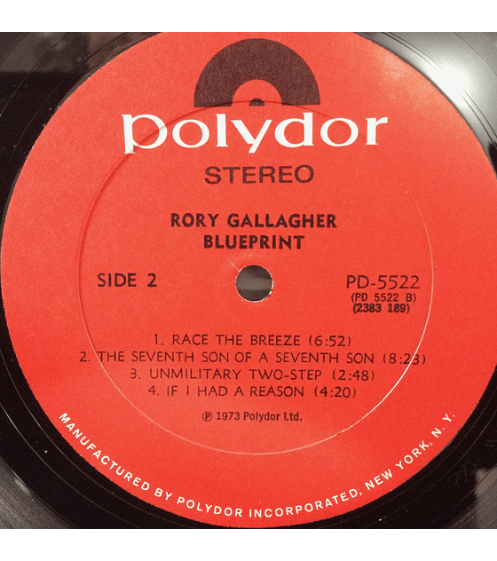Rory Gallagher ‎– Blueprint (1a ED USA)