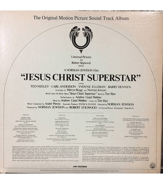 Various ‎– Jesus Christ Superstar (The Original Motion Picture Sound Track Album)