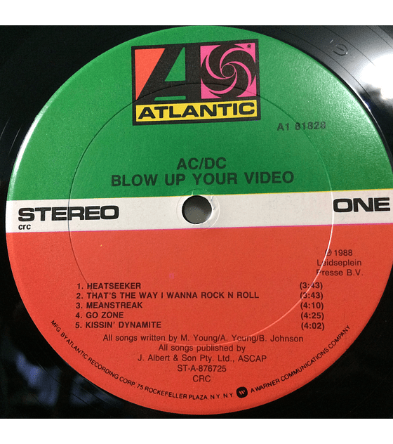 AC/DC – Blow Up Your Video (1a ED USA)