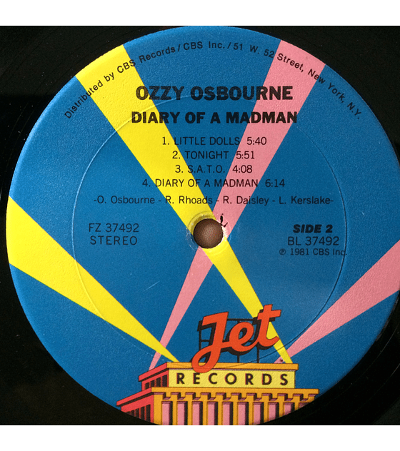 Ozzy Osbourne – Diary Of A Madman (1a ED USA)