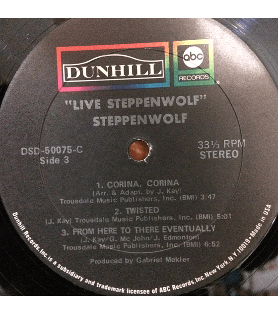 Steppenwolf ‎– Live (1a Ed Usa)