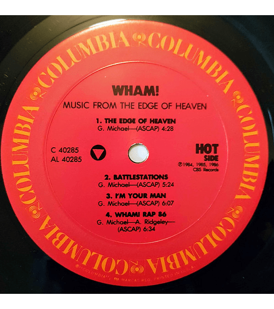 Wham! ‎George Micchael – Music From The Edge Of Heaven ed USA