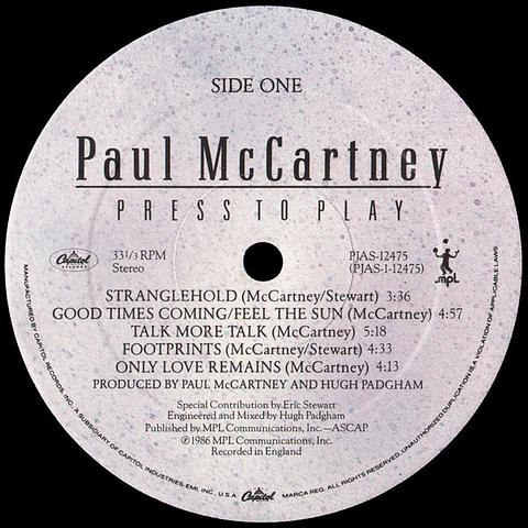 Paul McCartney – Press To Play