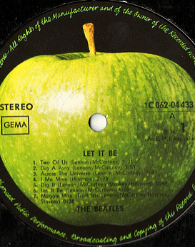 Beatles ‎– Let It Be 1a ED Alemania