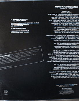 Dire Straits – Money For Nothing 12p (Full Length Version)